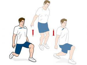 Jumping Split Lunge (www.menshealth.co.uk)